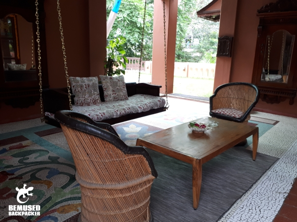 patio swing at the House of MG Ahmedabad