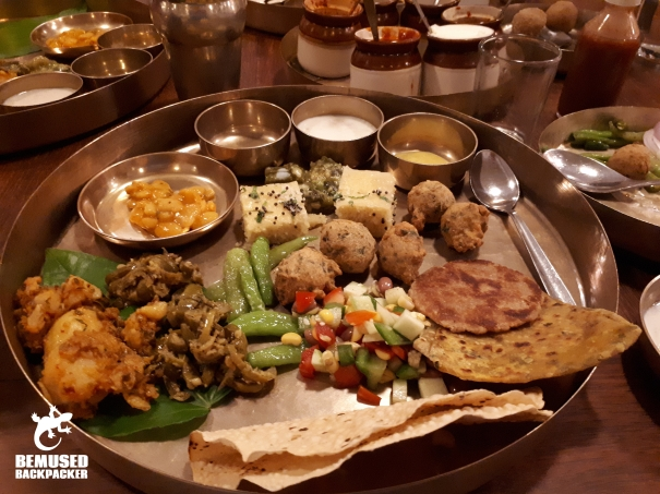 Gujurat Thali at the House of MG Ahmedabad