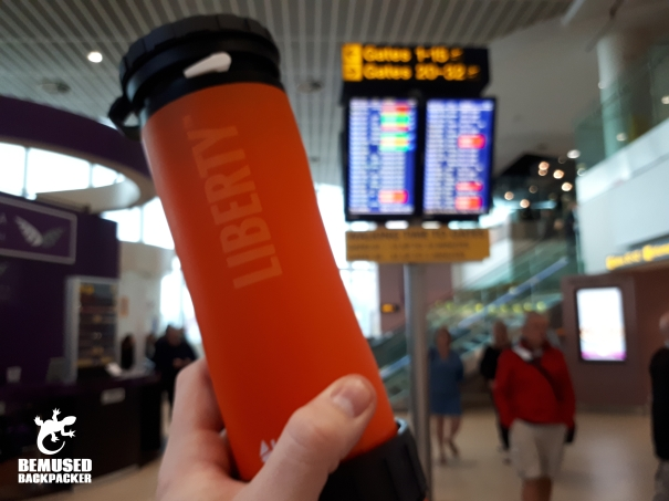 Lifesaver Liberty Water Filter Bottle Review Airport