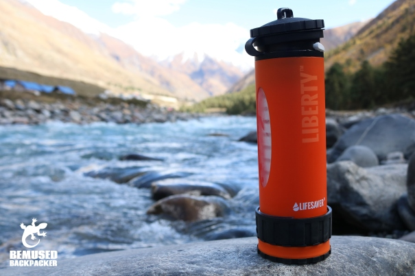 Lifesaver Liberty Water Filter Bottle Review Close up River