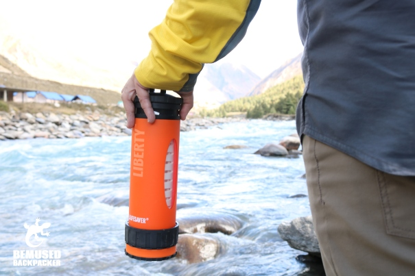 Lifesaver Liberty Water Filter Bottle Review River