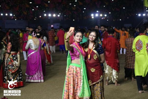 India Gujurat Navratri young girl selfie