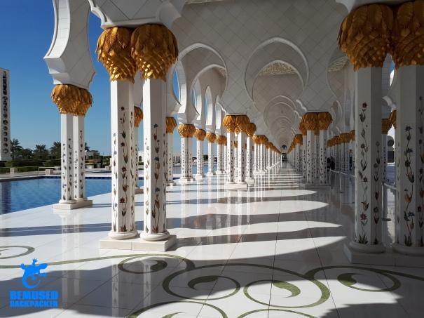 Sheikh Zayed Grand Mosque Pillars